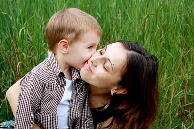 Mama z otrokom